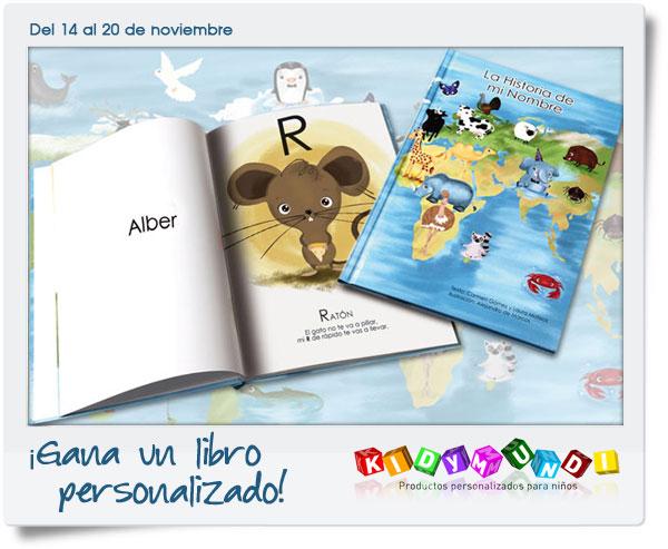 Gana un libro personalizado de Kidymundi - Pequeocio