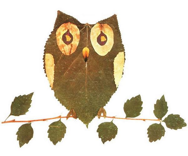 Manualidades con hojas de arbol