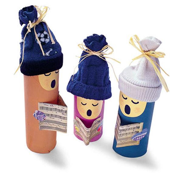 17 manualidades navideñas con rollos de papel higiénico 1