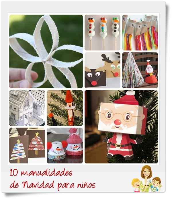 10 manualidades de navidad para ni os pequeocio - Para navidad manualidades ...