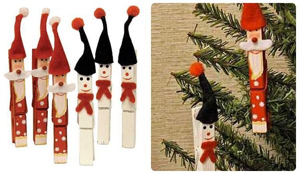 Adornos de navidad con pinzas de madera - Trabajos manuales de navidad para ninos ...