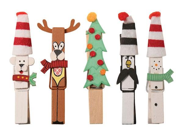 manualidades navideñas con pinzas de madera