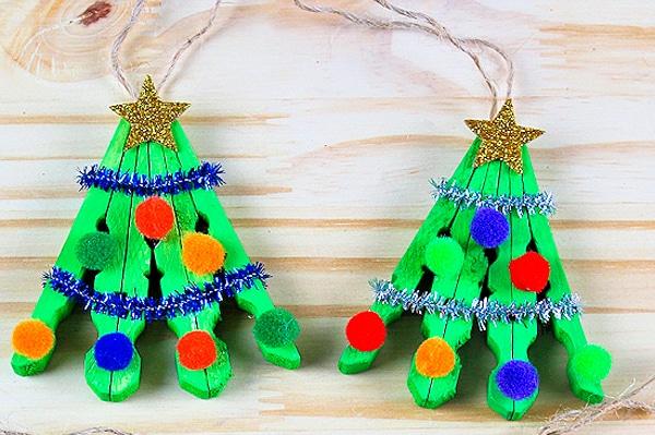 manualidades de navidad con pinzas de la ropa