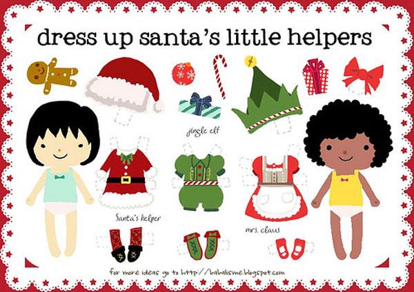 Muñecas Recortables De Navidad Pequeociocom