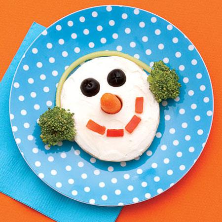 Sandwich Navidad para niños