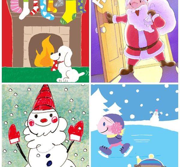 Felicitaciones De Navidad Para Infantil.Tarjetas De Navidad Gratis Para Imprimir Pequeocio Com