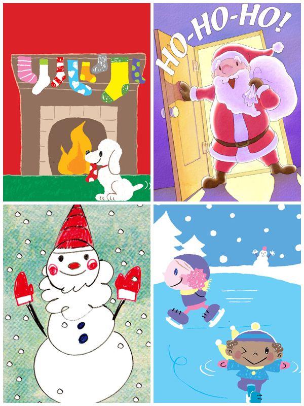 Tarjetas De Navidad Gratis Para Imprimir Pequeocio Com