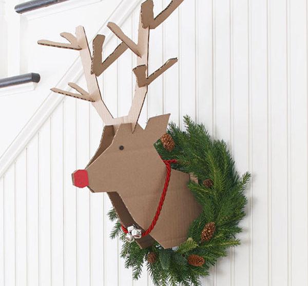Rudolph, un adorno navideño de cartón | Pequeocio.com