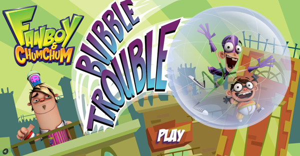 Fanboy y Chum chum juego burbujas