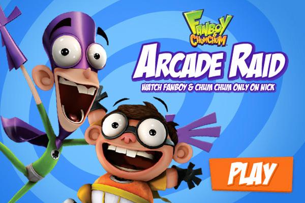 Fanboy y chum Chum Arcade Raid
