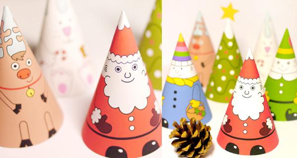 Figuritas de navidad recortables pequeocio - Manualidades ninos navidad ...