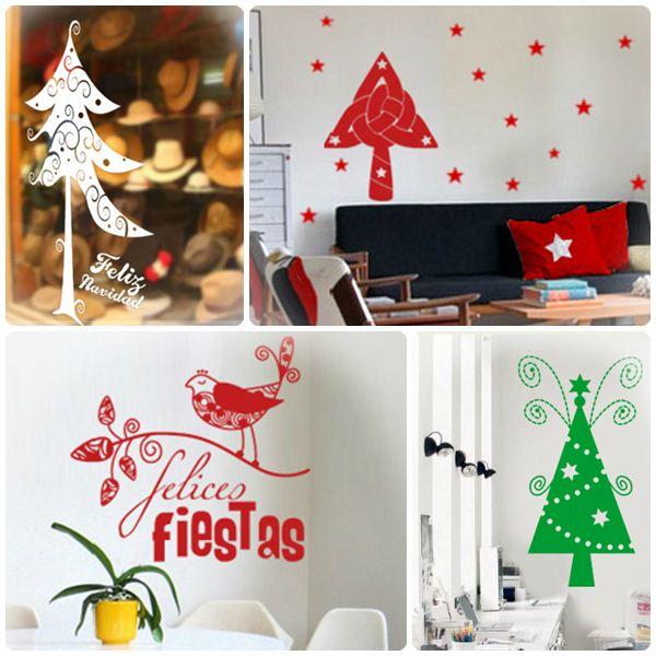 vinilos decorativos de navidad pequeocio