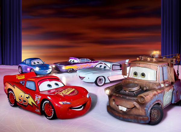 Cars disney sobre hielo