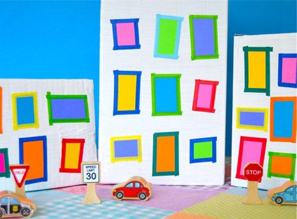Juguetes de cartón ciudad de juguete