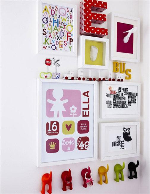Colgar los cuadros infantiles de forma original pequeocio - Letras para habitaciones infantiles ...