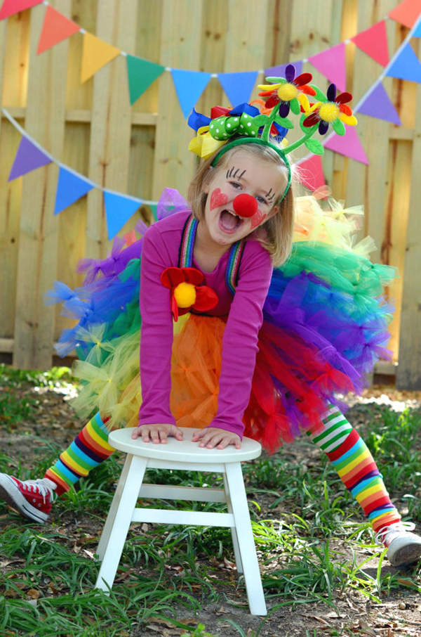 Girls Clown Tutu Costumes