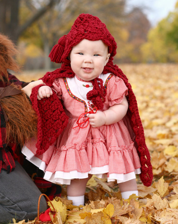 Disfraz casero caperucita roja bebé