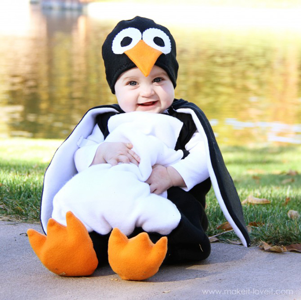 Disfraz casero para bebés pingüino