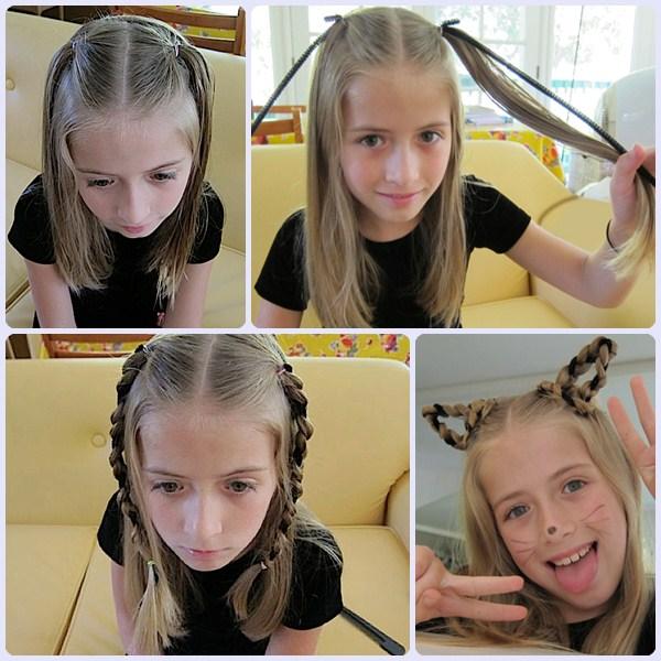 disfraz de gata peinado