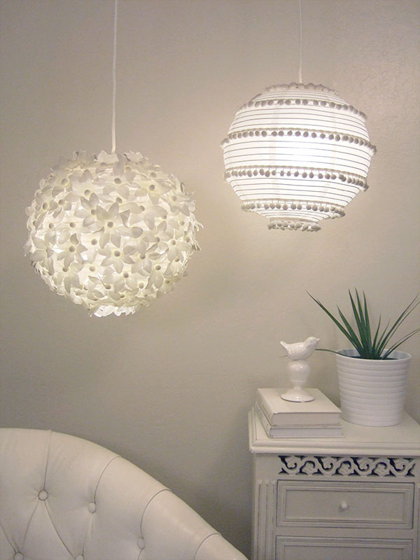 ideas para decorar l mparas de papel pequeocio