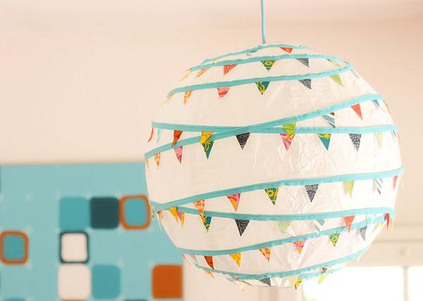 Ideas para decorar l mparas de papel pequeocio for Lamparas cuarto bebe