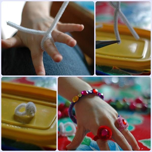 Paso a paso de los anillos y pulseras infantiles