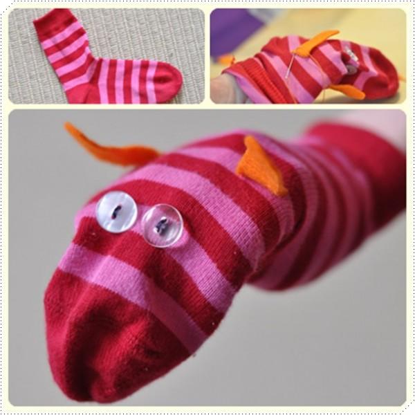 Marionetas hechas con calcetines pequeocio - Como hacer talon de calcetines de lana ...