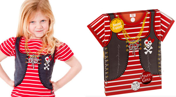 camiseta pirata niña