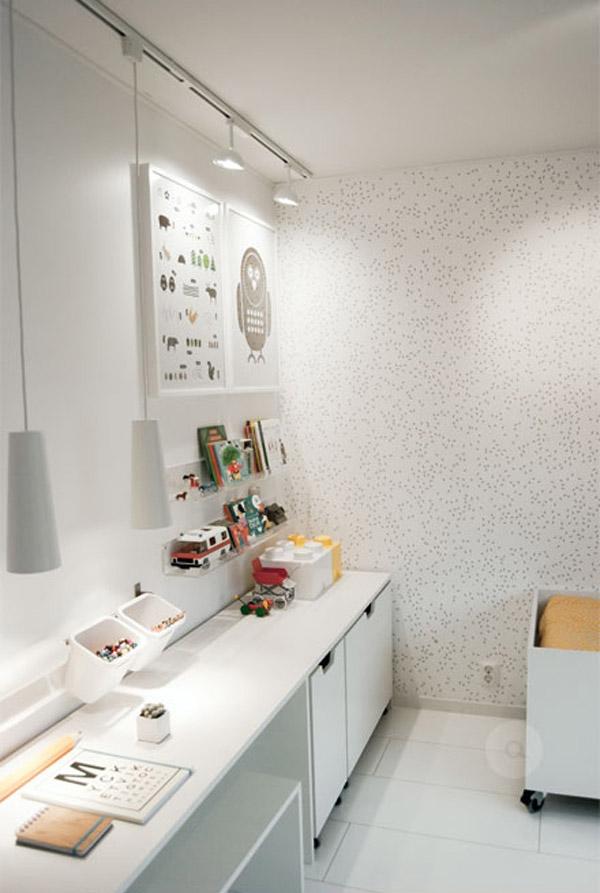 7 habitaciones infantiles en blanco pequeocio for Habitaciones con muebles blancos