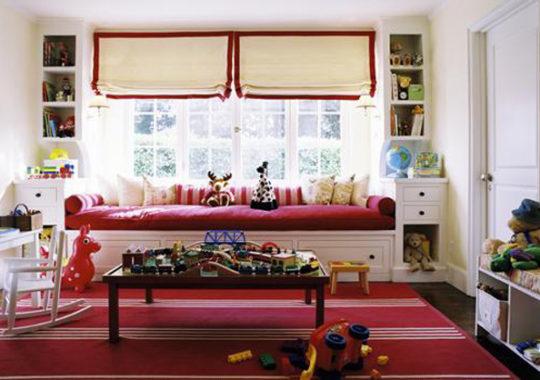 Decorar la habitación infantil en rojo 8