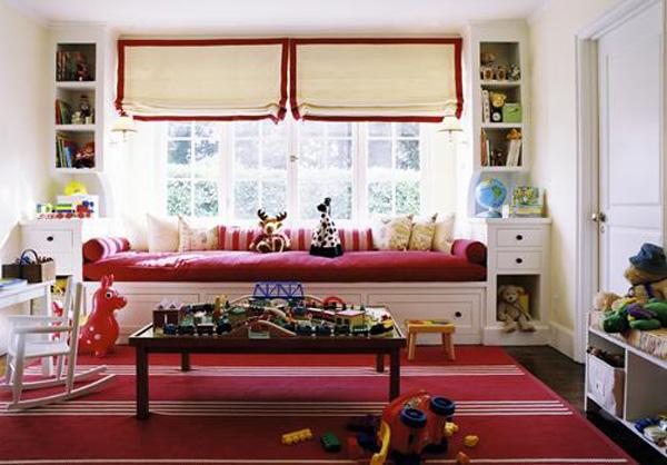 Decorar la habitaci n infantil en rojo pequeocio for Cuartos de ninas feos