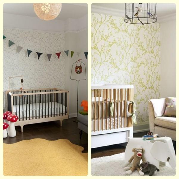 Empapelar la habitaci n del beb pequeocio - Decoracion dormitorio infantil nino ...