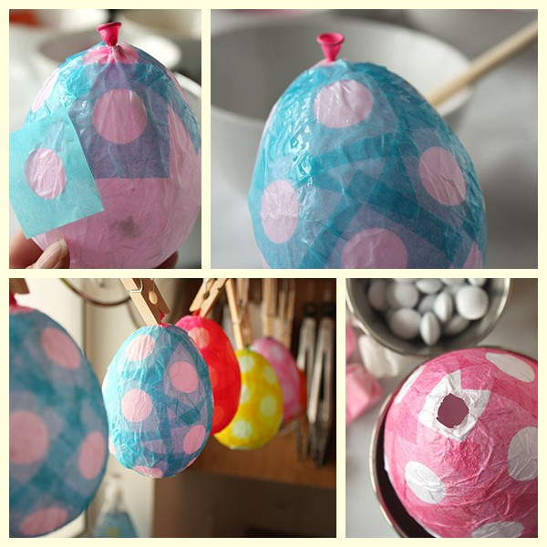 Huevos de Pascua de papel maché