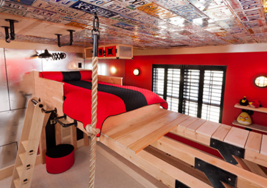 Una habitación infantil para pequeños escaladores 9
