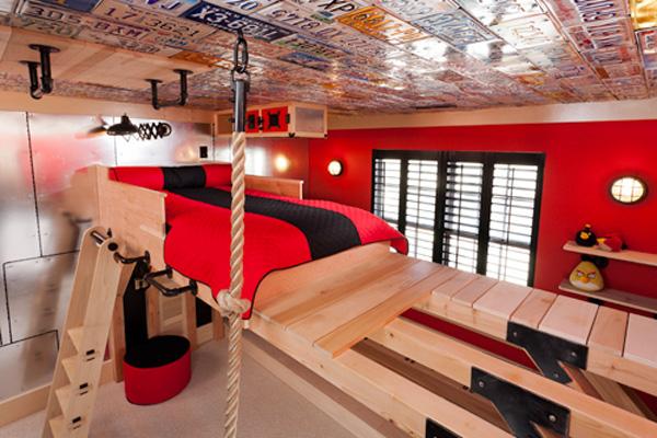 Una habitaci n infantil para peque os escaladores - Turnen kinderzimmer ...