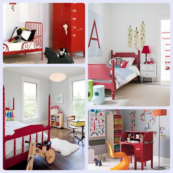 Decorar la habitaci n infantil en rojo pequeocio for Ideas decorar habitacion infantil