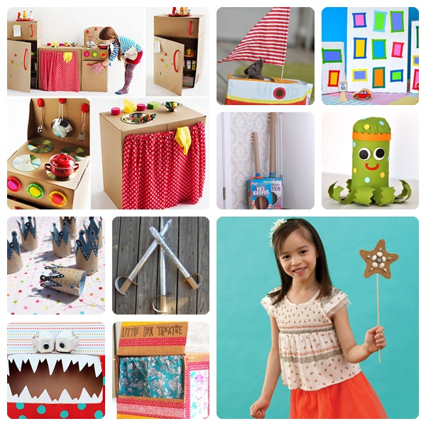 10 manualidades infantiles con cart n f ciles y divertidas for Utiles de cocina baratos