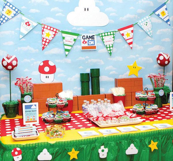 Cumpleaños De Super Mario Bros Pequeociocom