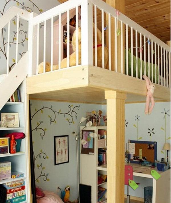 Un altillo en la habitaci n infantil - Como hacer un altillo de madera ...