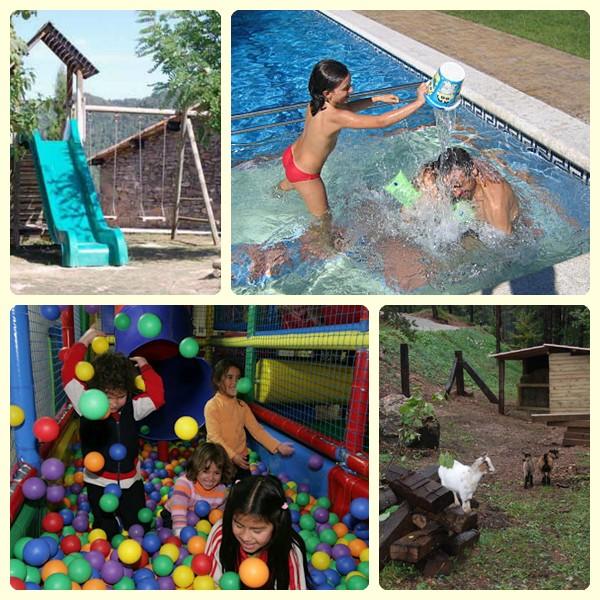 Turismo rural con ni os en catalu a - Hoteles con piscinas para ninos ...