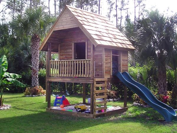Casitas infantiles de cuento pequeocio for Casa jardin ninos