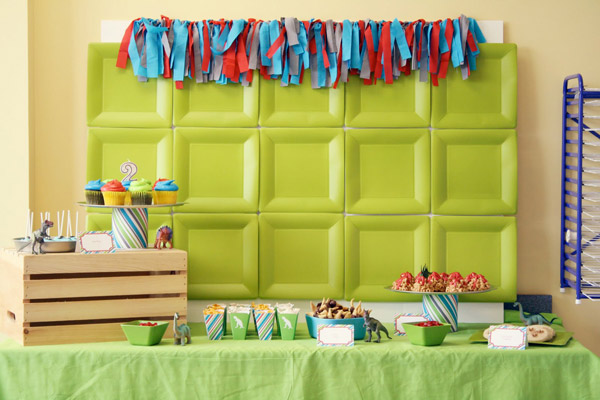 Fiesta infantil de dinosaurios - Decoracion fiestas infantiles en casa ...