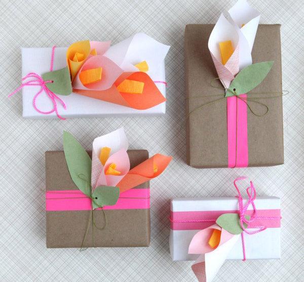 Idea Para Envolver Regalos Con Flores De Papel Pequeocio Com