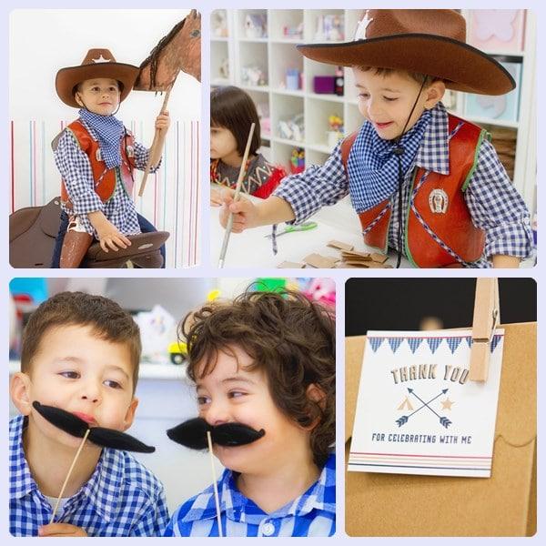 Cumpleaños infantiles de indios y vaqueros