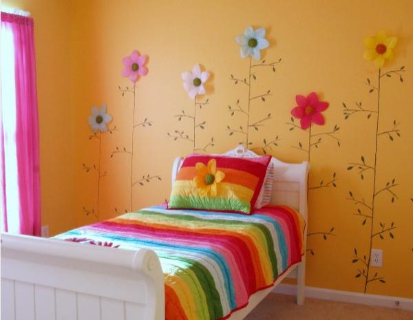 Flores para decorar una habitaci n infantil pequeocio - Decorar habitacion infantil nina ...