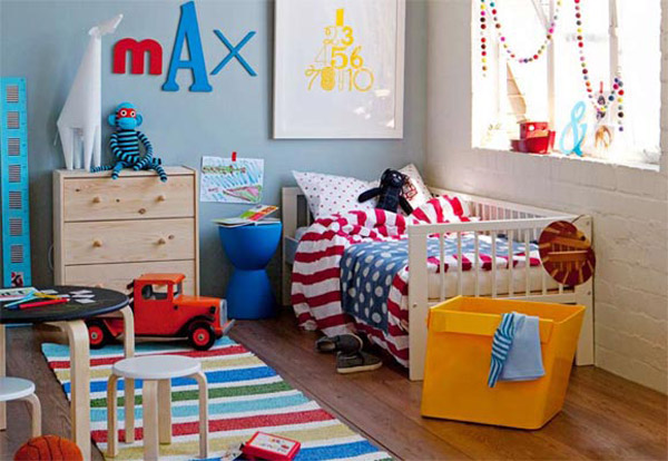 10 habitaciones infantiles para chicos for Color del dormitorio de los padres