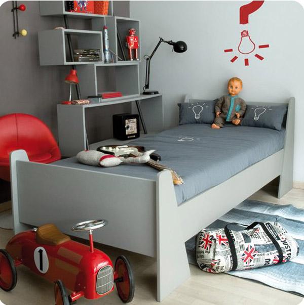 10 habitaciones infantiles para chicos pequeocio - Chambre garcon bleu et rouge ...