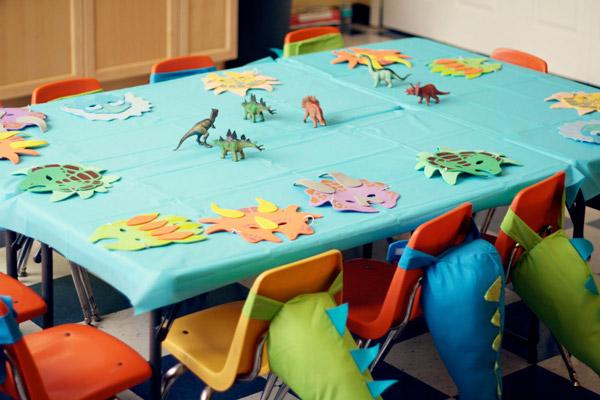 Decoración fiesta para niños de dinosaurios