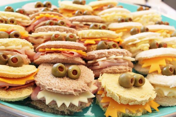 si debis preparar una merienda de cumpleaos una opcin simple y con el xito asegurado son estos divertidos sandwich de cumpleaos