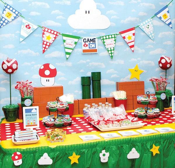 cumpleaos de super mario bros 16 fiestas infantiles originales